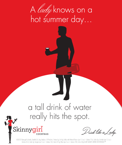 A lady knows on a hot summer day