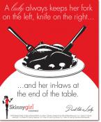 A lady always keeps her fork on the left, knife on the right...