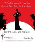 A lady knows it's not the size of the bling that matters...